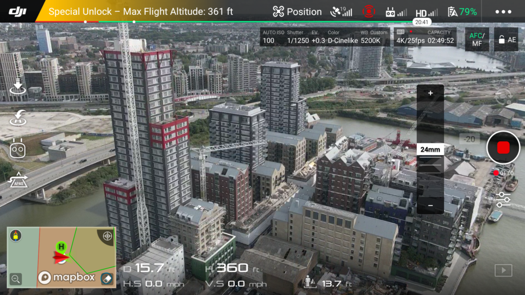 redevelopment in East London drone photography